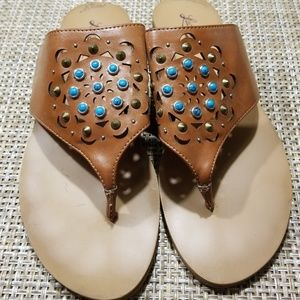 Lucky Brand Jeweled Sandals